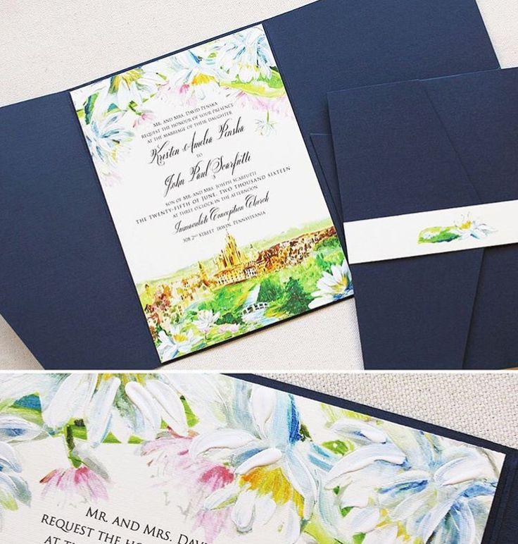 26 best foil print watercolor invites images on pinterest castle wedding invitation stopboris Gallery