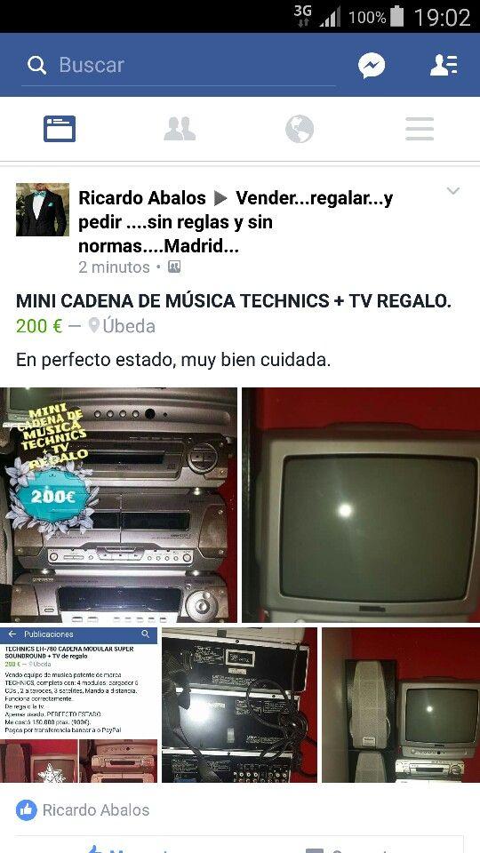 MINI CADENA DE MÚSICA TECHNICS + TV REGALO.   200€  Úbeda  (Jaén )