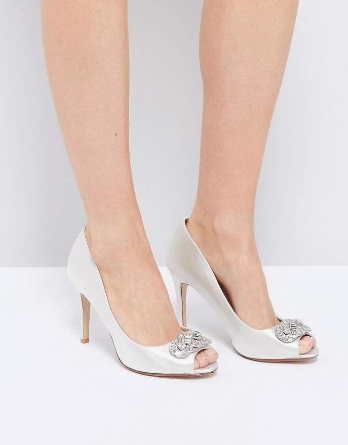 Dune Bridal Dune London Bridal Dolley Embellised Shoes #bride #weddinginspiration #bridal #bridalinspiration #bridallingerie #lingerie #highheels #shoes