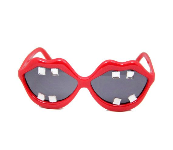 唇サングラス、口サングラス、コーチェラ サングラス、祭りのサングラス、サイバー、ソフト グランジ、かわいいサングラス、グランジ、90 年代、Seapunk