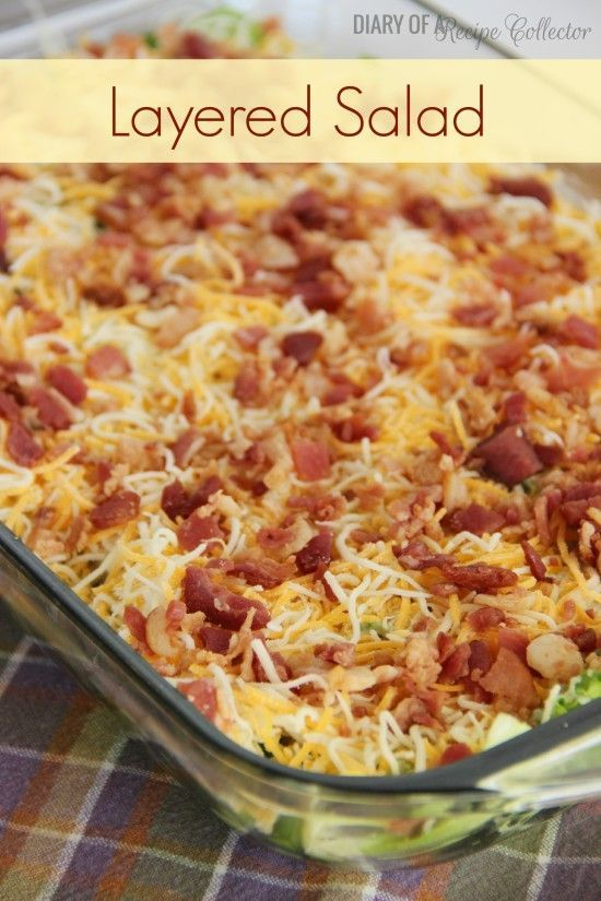 Layered Salad is an awesome make-ahead salad great for potlucks or family gatherings.