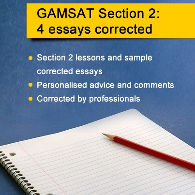 gamsat essay static correction service