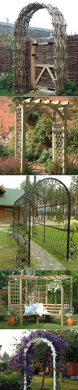 Садовые арки – виды, способы создания и оформления своими руками | 6 соток