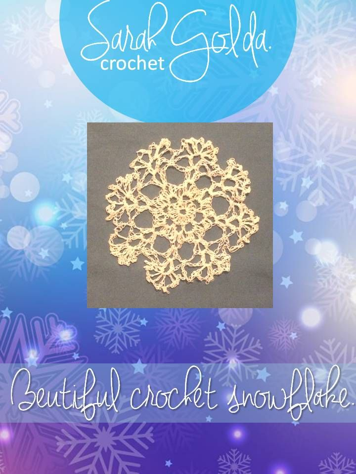 This is a snowflake I crochet from a pattern I found on pinterest I will pin the pattern on to this board