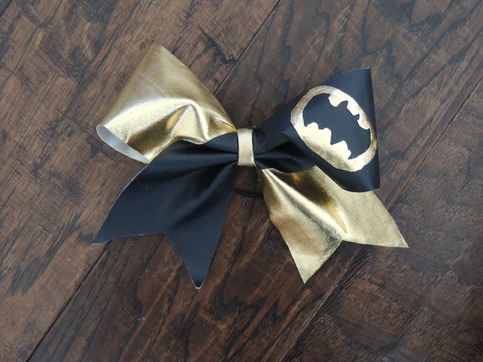 dadadadada Batman!!! Super cute cheer bow for sale for the amazing price of $7. Go check it out on http://natalie.storenvy.com, and follow my instagram page @stephscheerbows