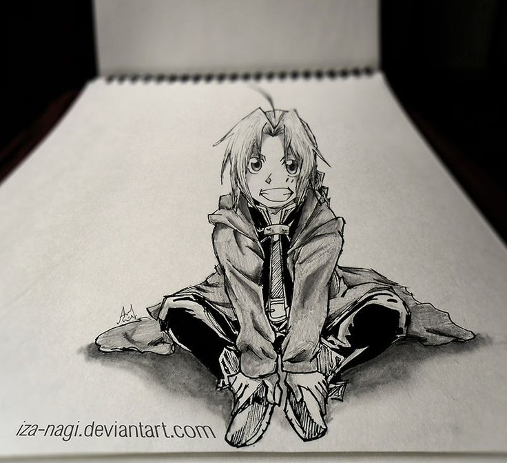 Special 3D Sketch Edward Elric   Mind Blowing Perspective 3D Drawing Art By  Iza