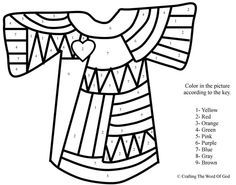 Joseph's Coat Of Many Colors (Color By Number) Coloring pages are a great way to end a Sunday School lesson. They can serve as a great take home activity. Or sometimes you just need to fill i…
