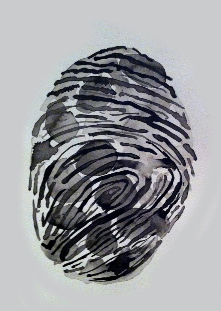 Tania Mason - Finger blot lines (2012) - ink on paper, 21x29,7cm © The Artist