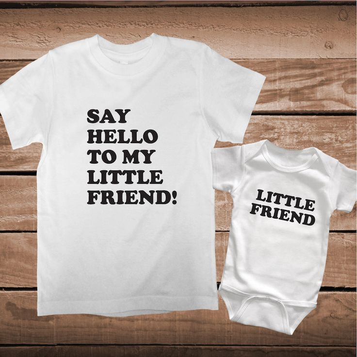 Say Hello To My Little Friend Matching Tees _ Matching Custom Clothes _ Father and Son Tees _ Clever T-Shirts _ PrimeDecals