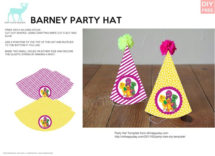 138 Best Barney Printables Images On Pinterest Book Markers