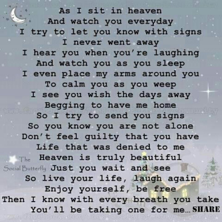 A Poem For Loss Of A Loved One. So Sweet. I Miss You, Mom And Dad.