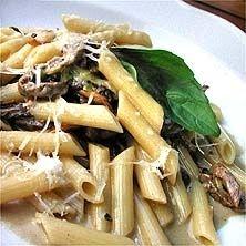 Pasta Penne med oxfilé och kantareller