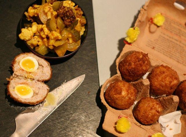 Panko Fried Scotch Eggs #Expo2015 #milan #worldsfair #Panko #Fried #Scotch #Eggs