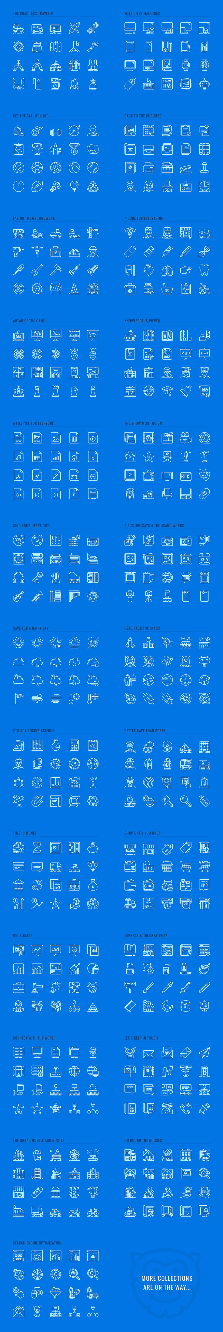 LineKing iOS Icons by Pixel Bazaar on Creative Market