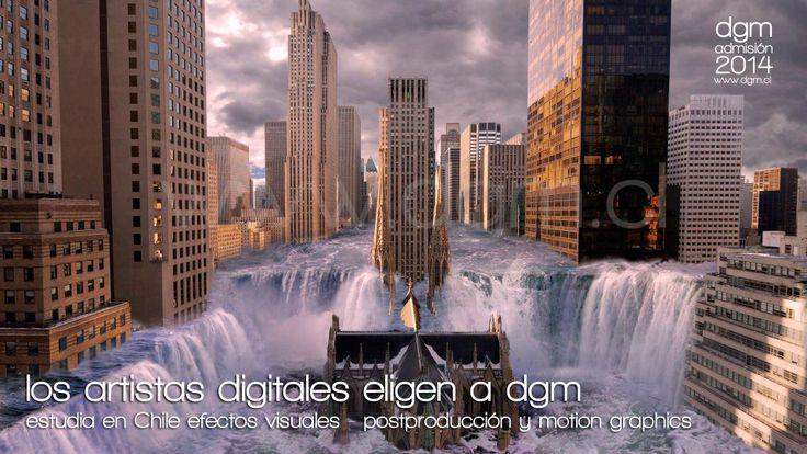 Estudia efectos visuales en Chile. DGM digital training center especializado Animación 3d, Motion Graphics, Efectos Visuales, Sonido, Edición, PostProducción, Iluminación. ADMISION 2016