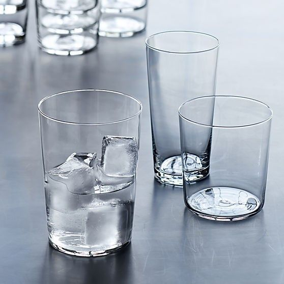 The micro-thin Marta Barware line from CB2 is well priced and appealing; prices start at $1.50 for the Marta Juice Glass.