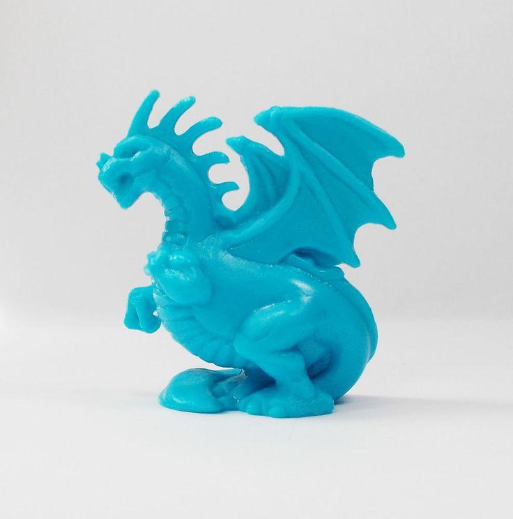 Monster In My Pocket - Series 2 - 49 Dragon - Neon Blue