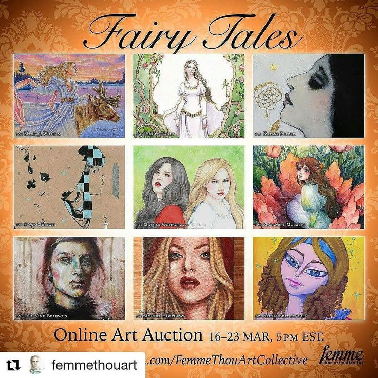 """#Repost @femmethouart with @repostapp  Our incredible """"Fairy Tales"""" auction is now LIVE! Lovely art pieces are ready to be auctioned off (direct link at profile). . . . . . #femmethouart #artauction #art4sale #femaleart #art #painting #carolinaseth #bighelmethead #creativeuprising #modernsurrealism #newcontemporary #popsurrealism #surrealart #surrealism #artshow #artgallery #artmagazine #hifructosemag #fashionmagazine #fashion #magicrealism #fantasticrealism #artistdrop #theartattacks #otaku…"""