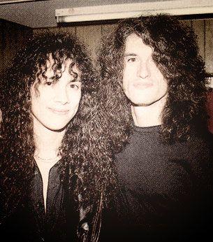 Kirk Hammett of Metallica and Joe Perry of Aerosmith