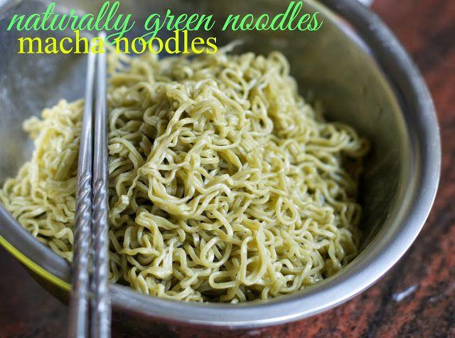 Indonesian Medan Food: Mie Keriting Hijau ( Curly Green Noodles)