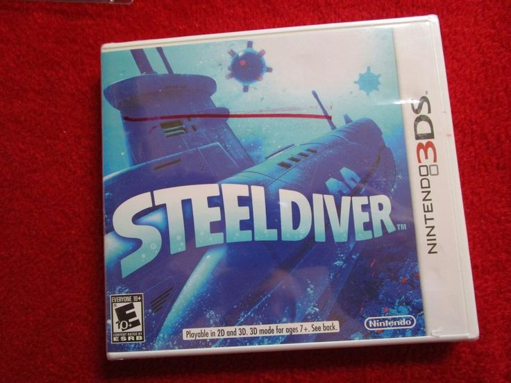 Steel Diver (Nintendo 3DS, 2DS) Submarine Video Game boats ships navy marines