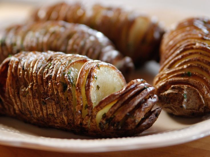 Hasselback Potatoes recipe from Ree Drummond via Food Network