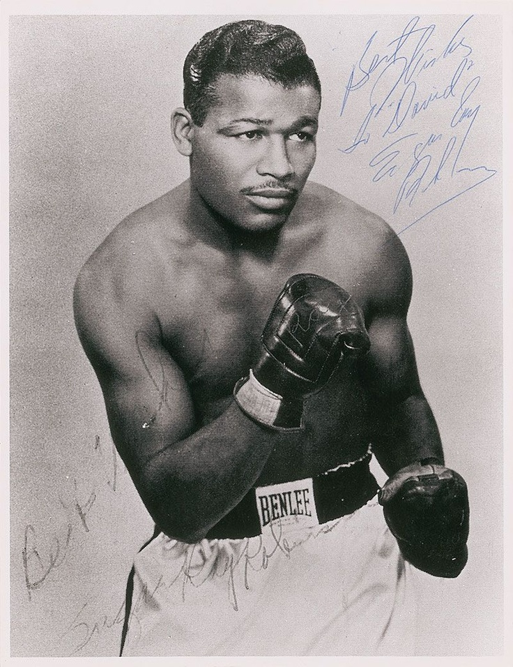 Sugar Ray Robinson Boxing Champion often called the best fighter in the history of boxing. Born in Ailey, GA