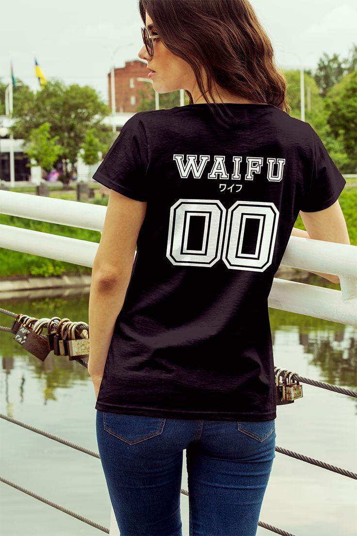 """Koszulka z nadrukiem """"Waifu"""". Idealna dla każdej dziewczyny otaku ;) Koszulka dostępna pod adresem: Originto.com #otaku #anime #manga #originto #japan #japanese #japonia #japoński #waifu #prezent #gift #otakugirl #japońskie #kawaii #cute #koszulka #koszulki #tshirt #tshirts #t-shirt #t-shirts"""