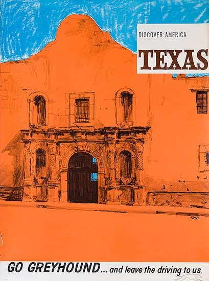 texas trave poster | Texas Travel Poster. 1960s