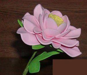 flores en goma eva paso a paso moldes - Buscar con Google