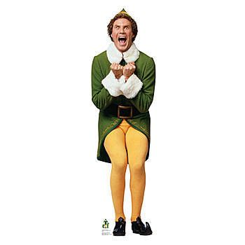 Our Excited Elf Standee features a full-color image of Will Ferrell as Buddy the elf from the Christmas comedy film Elf.