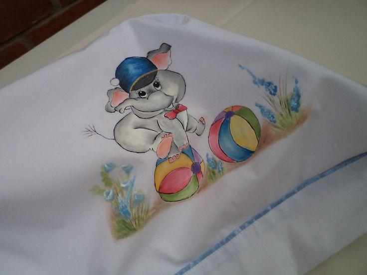 S banitas para beb pintadas a mano pintura en tela - Dibujos infantiles para pintar en tela ...