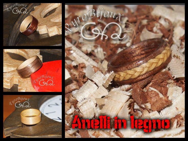 Anelli in legno curvato - wood rings