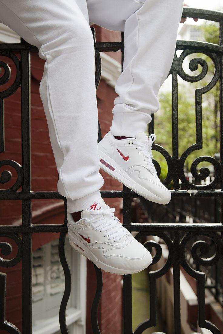 Nike Air Max 1 Jewel in Crisp White/Red for Summer - EU Kicks: Sneaker Magazine