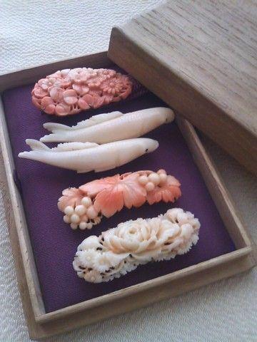 珊瑚の帯留め。 :: 気楽にお着物*楽しくお出かけ|yaplog!(ヤプログ!)byGMO