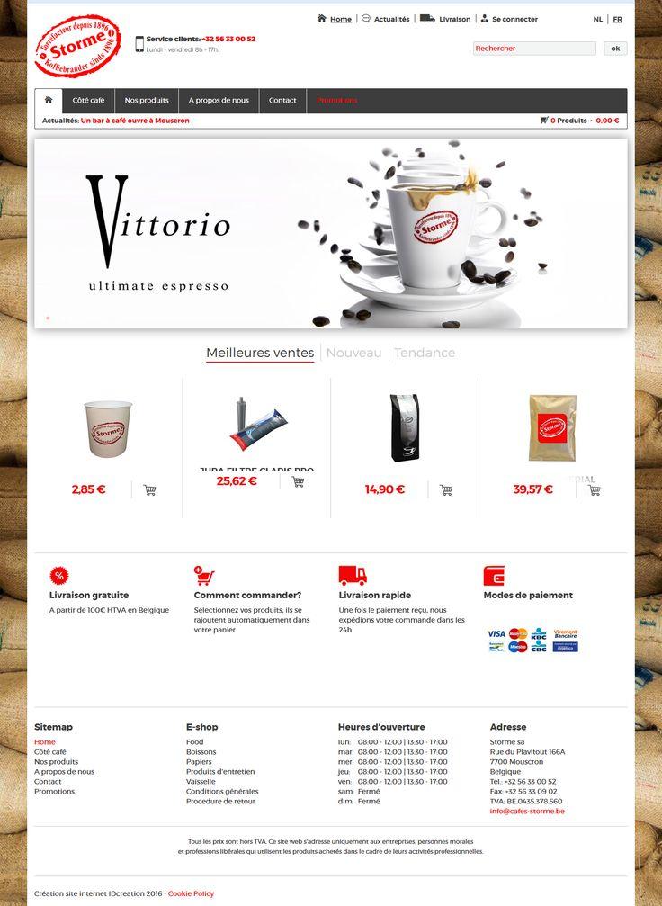 Koffiebranderij Storme. Online verkoop van koffie. #webshop #webdesign #design #IDcreation #website