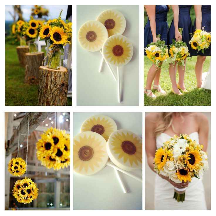Sunflower design wedding chocolate package gifts