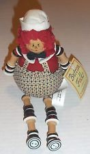 1997 Raggedy Andy Shelf Sitter Bean Bag Doll with Button Arms & Legs