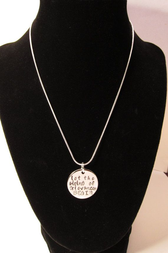 Festivus Necklace, Hand Stamped Silver Plated Festivus Quote, Holiday Jewelry, Funny Necklace, Festivus Miracle
