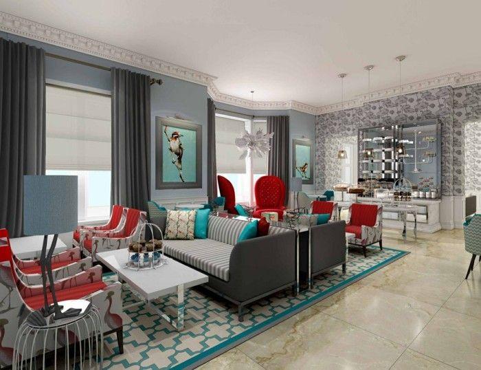 Die besten 25+ Rote akzente Ideen auf Pinterest Rote küche - farbgestaltung wohnzimmer grau