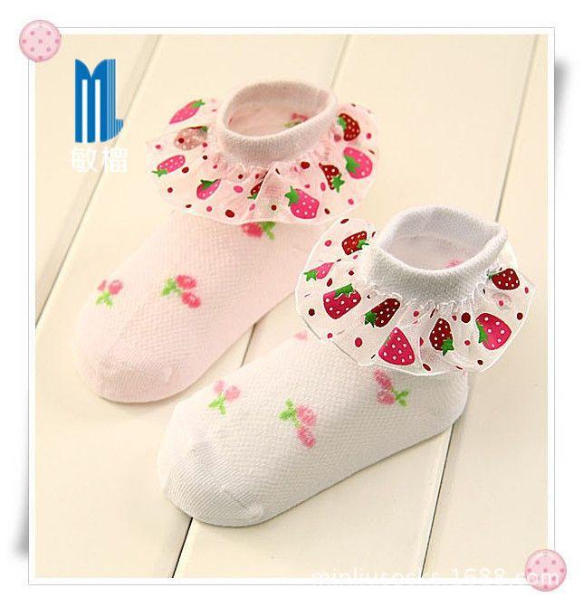 Дешевое 4 размера для 2 ~ 12 лет девушки дети клубника мягкой великолепен тонкий кружевные носки детские носки бесплатная доставка, Купить Качество Носки непосредственно из китайских фирмах-поставщиках:           Новый высокого качества ребенка/детей носки и леггинсы                    ---- [            Материал