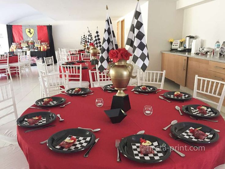 Awesome Ferrari racing car birthday party! See more party ideas at CatchMyParty.com!