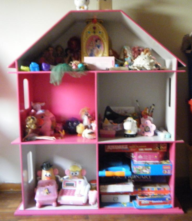 Casita-Organizador de Juguetes para niña