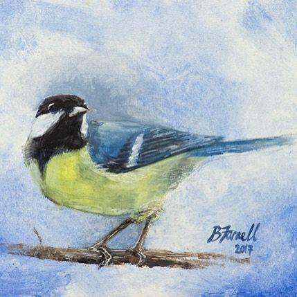 Great tit Oil painting by Ben Farnell  http://ift.tt/2AgNjvo  http://ift.tt/2mLTAcu  #birdartben #oilpainting #greattit #etsy #birds #birdart