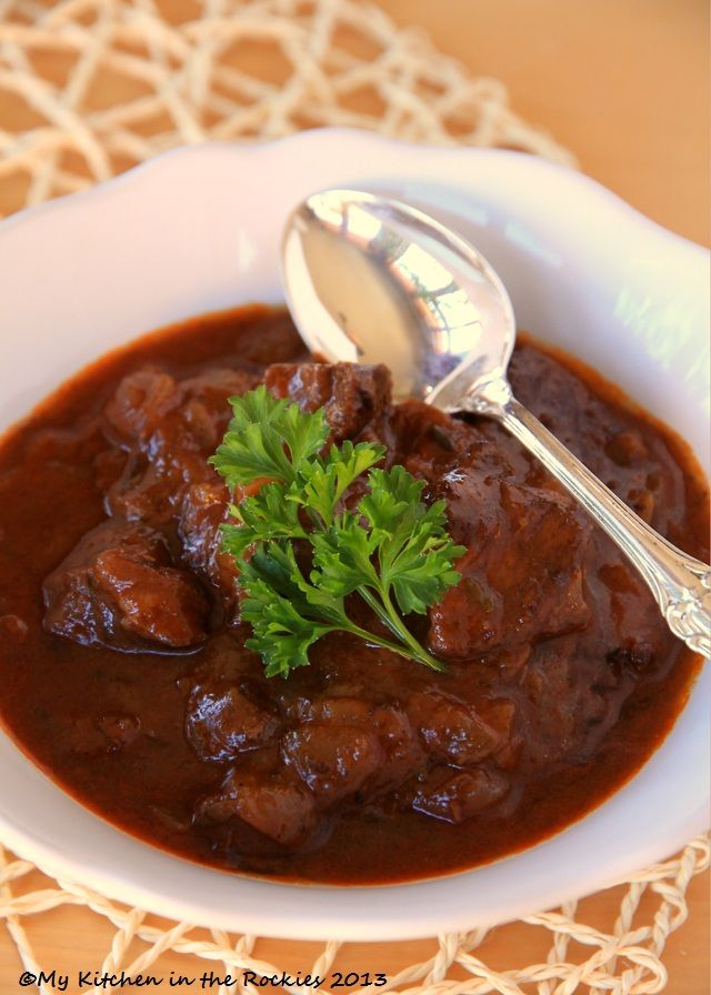 German Beef Goulash & Winner of the Cookbook Tasting Colorado----- This is really good. I've never had German goulash before. This is fantastic!