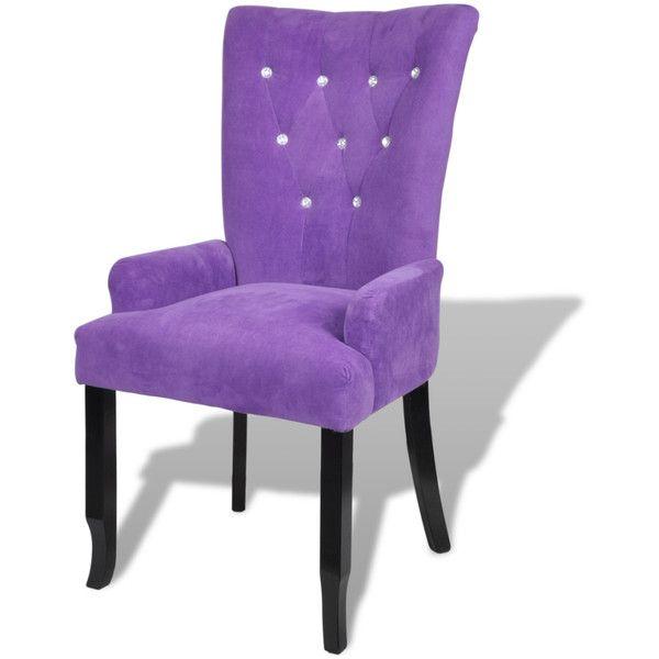 purple Luxury Armchair Velvet-coated Purple - LovDock.com (230 CAD) ❤ liked on Polyvore featuring home, furniture, chairs, accent chairs, purple velvet chair, velvet furniture, purple arm chair, purple accent chair and purple armchair