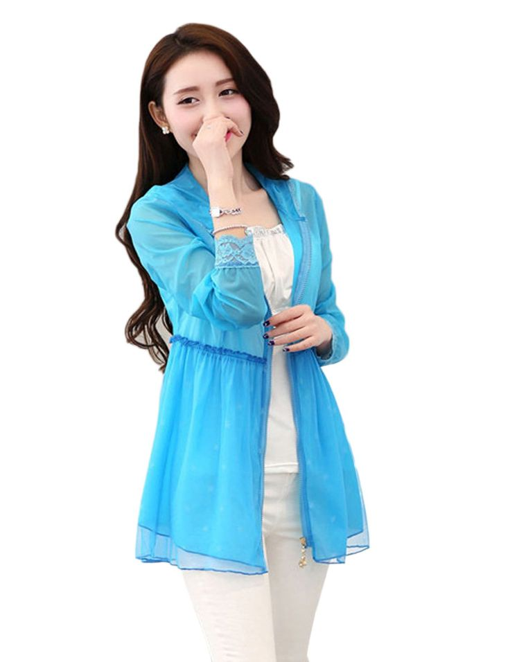 Amazon.com: Only Faith Women Summer Transparent Anti UV Waterproof Quick Dry Windproof Hooded Skin Coat: Clothing