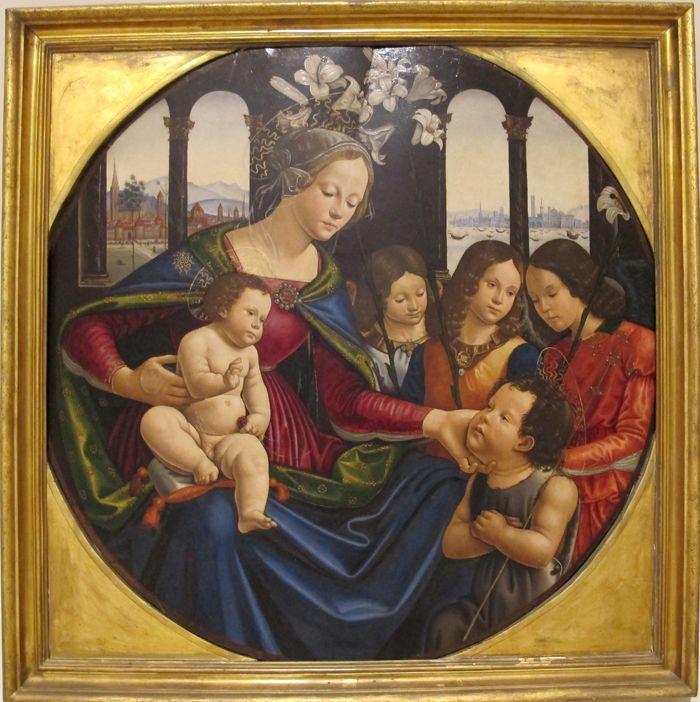 Себастьяно Майнарди Мадонна с младенцем, Иоанном Крестителем и ангелами - arabena