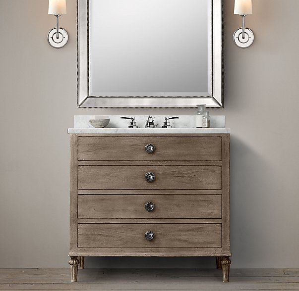 Photo Gallery On Website POWDER ROOM VANITY Maison Single Vanity Sink