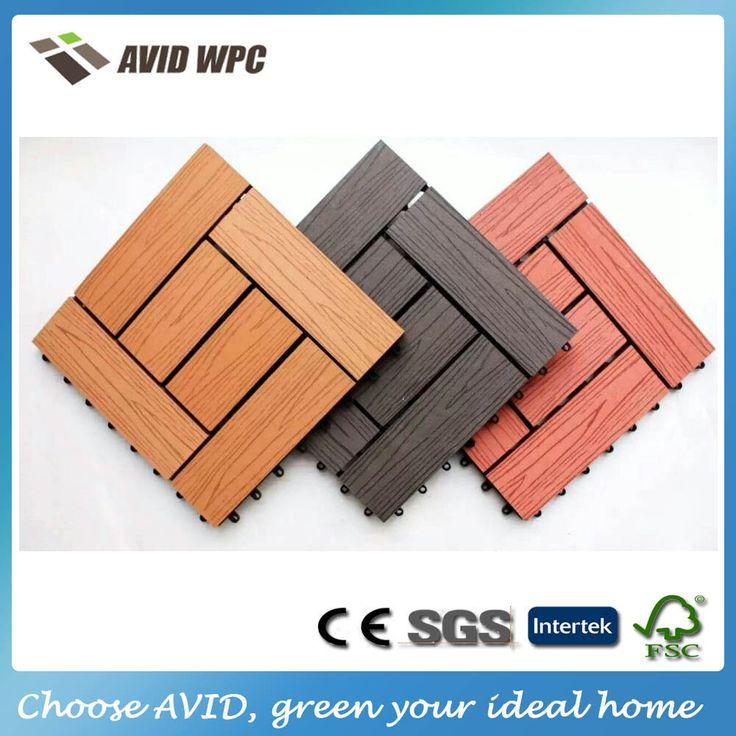 Легкие чистые и низкая цена wpc композитных древесных плитки/открытый настил плитки для продажи